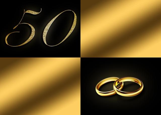 oznámení zlaté svatby