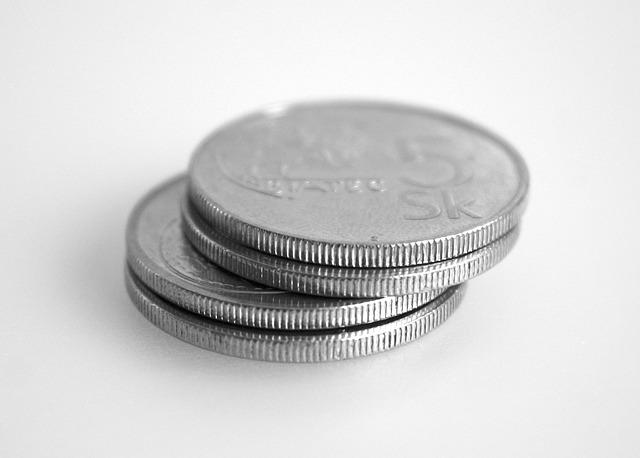 čtyři stříbrné mince, slovenská měna