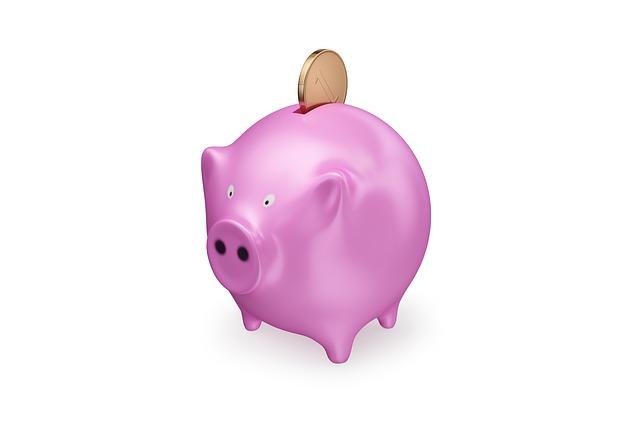 pokladnička, prasátko, mince, spoření